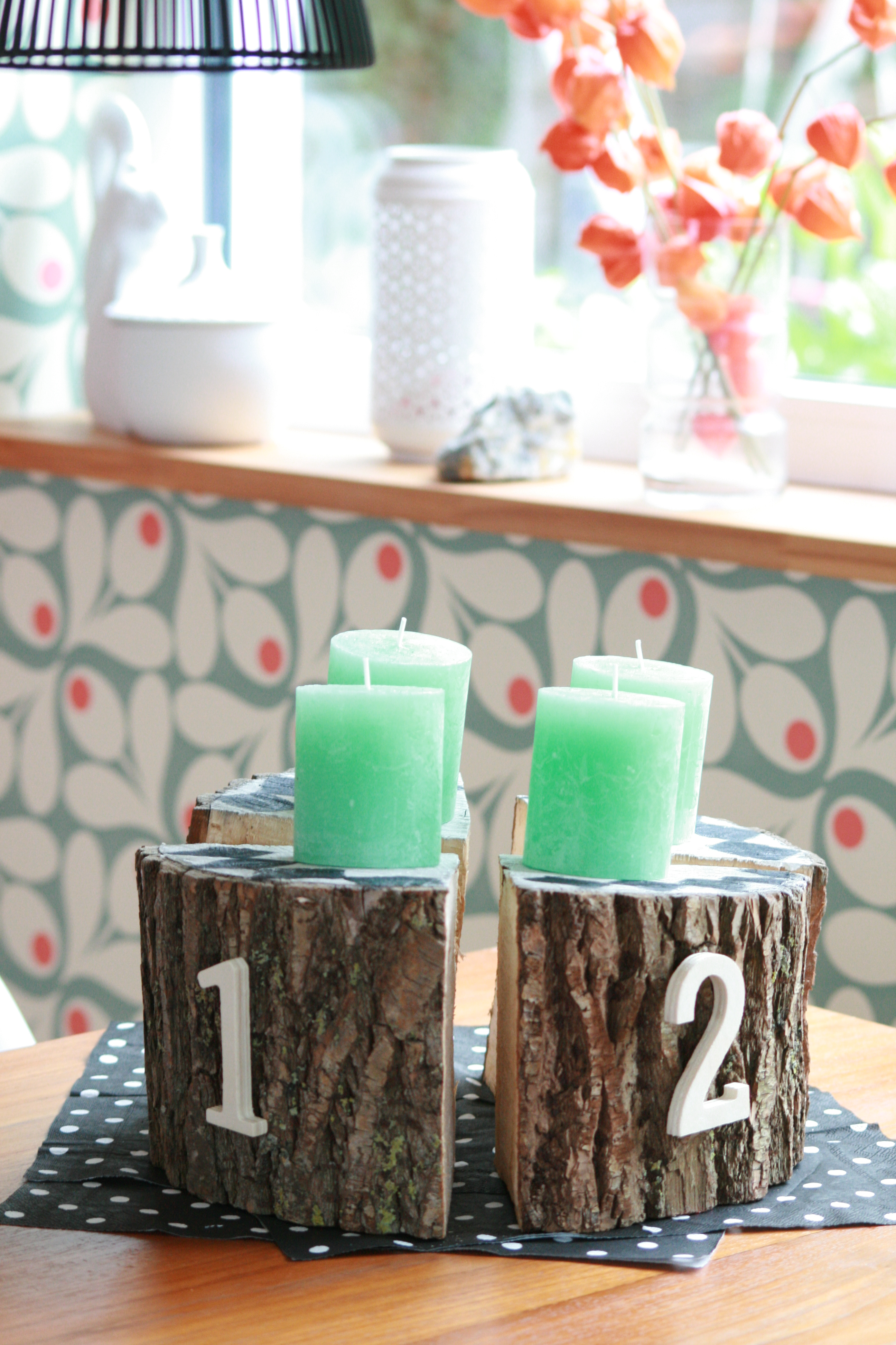diy adventskranz my home is my horst. Black Bedroom Furniture Sets. Home Design Ideas
